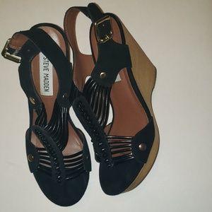 Womens Steve Madden Wedge Wizarrd Cognac Lea Shoes